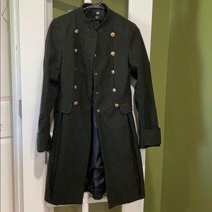 H&M green wool/felt jacket